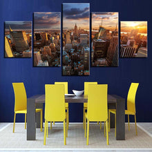 New York In The Afternoon 5 Piece HD Multi Panel Canvas Wall Art Frame