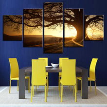 Big Tree Sunshine Scenery 5 Piece HD Multi Panel Canvas Wall Art Frame
