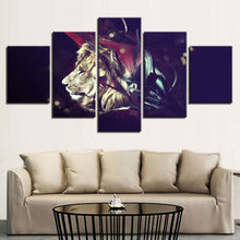 Lion 5 Piece HD Multi Panel Canvas Wall Art Frame
