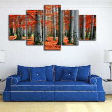 Forest Fallen Leaves Scenery 5 Piece HD Multi Panel Canvas Wall Art Frame