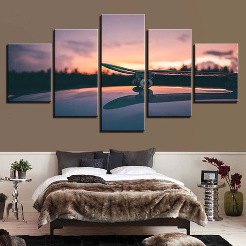 Skateboard Sport 5 Piece HD Multi Panel Canvas Wall Art Frame