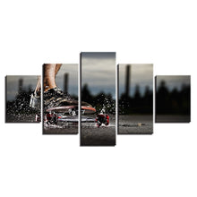 Extreme Sports Skateboard 5 Piece HD Multi Panel Canvas Wall Art Frame