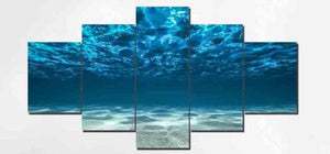 Deep Ocean 5 Piece HD Multi Panel Canvas Wall Art Frame