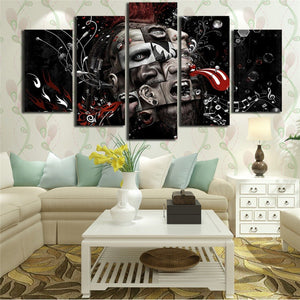 Psychedelic Music Art 5 Piece HD Multi Panel Canvas Wall Art Frame