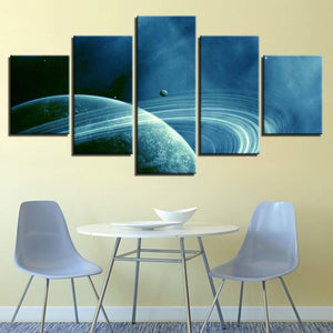 Saturn 5 Piece HD Multi Panel Canvas Wall Art Frame