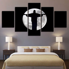 Jesus Christ Moon Shadow 5 Piece HD Multi Panel Canvas Wall Art Frame