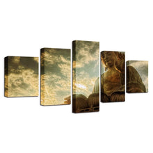 Buddha Statue 5 Piece HD Multi Panel Canvas Wall Art Frame