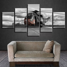 Helicopter 5 Piece HD Multi Panel Canvas Wall Art Frame