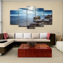 Sunrise Sky Clouds 5 Piece HD Multi Panel Canvas Wall Art Frame