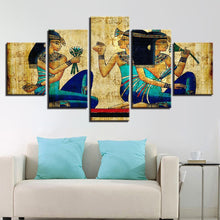 Egyptian Art 5 Piece HD Multi Panel Canvas Wall Art Frame
