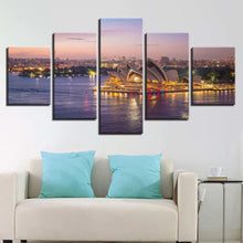 Sydney Opera House 5 Piece HD Multi Panel Canvas Wall Art Frame