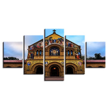 Church Painting 5 Piece HD Multi Panel Canvas Wall Art Frame