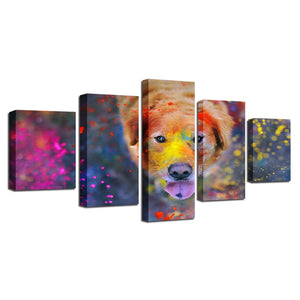 Beautiful World Of Colors 5 Piece HD Multi Panel Canvas Wall Art Frame