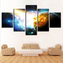 Universe Planet Pictures Space 5 Piece HD Multi Panel Canvas Wall Art Frame