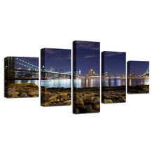 Distant Lights 5 Piece HD Multi Panel Canvas Wall Art Frame