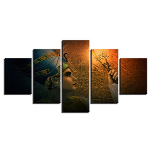Queens Of Egypt 5 Piece HD Multi Panel Canvas Wall Art Frame