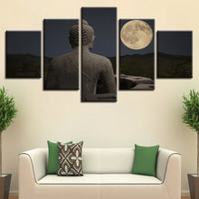 Figure Of The Buddha 5 Piece HD Multi Panel Canvas Wall Art Frame
