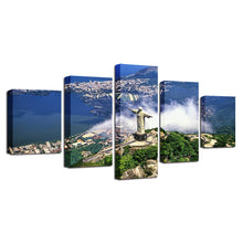 Christ the Redeemer 5 Piece HD Multi Panel Canvas Wall Art Frame