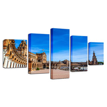 Piazza Di Spagna 5 Piece HD Multi Panel Canvas Wall Art Frame
