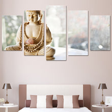 Statue Buddha 5 Piece HD Multi Panel Canvas Wall Art Frame