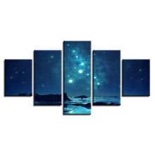 Starry Sky 5 Piece HD Multi Panel Canvas Wall Art Frame