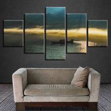 Early Morning Mist 5 Piece HD Multi Panel Canvas Wall Art Frame