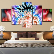 Dragon Ball 5 Piece HD Multi Panel Canvas Wall Art Frame