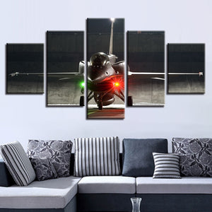 Eagle Aircraft 5 Piece HD Multi Panel Canvas Wall Art Frame