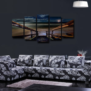 The Seabridge 5 Piece HD Multi Panel Canvas Wall Art Frame