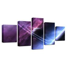Space Universe 5 Piece HD Multi Panel Canvas Wall Art Frame