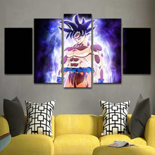 Dragon Ball Goku 5 Piece HD Multi Panel Canvas Wall Art Frame
