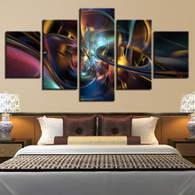 Colorful Psychedelic Art 5 Piece HD Multi Panel Canvas Wall Art Frame