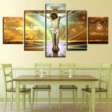 Jesus Glory To God 5 Piece HD Multi Panel Canvas Wall Art Frame