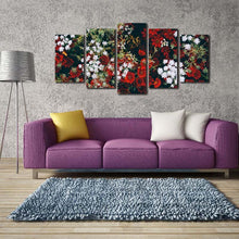 Flowers 5 Piece HD Multi Panel Canvas Wall Art Frame