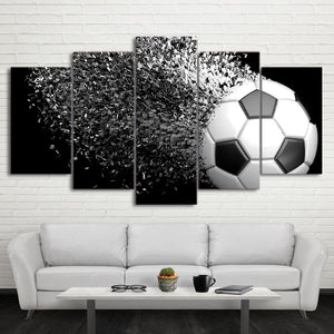 Football Time Lapse 5 Piece HD Multi Panel Canvas Wall Art Frame