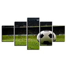 Football Course Sports 5 Piece HD Multi Panel Canvas Wall Art Frame