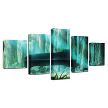 Forest Piano 5 Piece HD Multi Panel Canvas Wall Art Frame