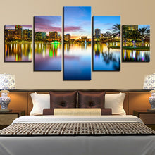 Brilliant City Nightscape 5 Piece HD Multi Panel Canvas Wall Art Frame