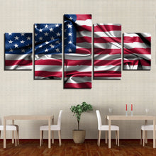 American Flag Living Room 5 Piece HD Multi Panel Canvas Wall Art Frame
