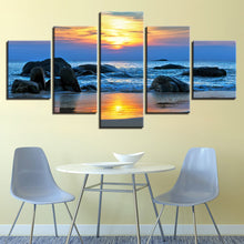 Sunrise at The Beach 5 Piece HD Multi Panel Canvas Wall Art Frame