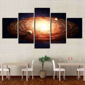 Luminous Space 5 Piece HD Multi Panel Canvas Wall Art Frame
