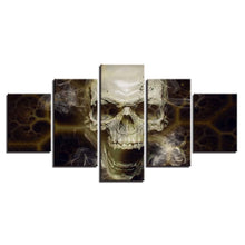 Lethal Skull 5 Piece HD Multi Panel Canvas Wall Art Frame