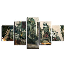 Post-Apocalypse City 5 Piece HD Multi Panel Canvas Wall Art Frame