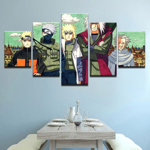 Naruto Canvas Anime 5 Piece HD Multi Panel Canvas Wall Art Frame