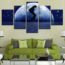 Micheal Jackson 5 Piece HD Multi Panel Canvas Wall Art Frame