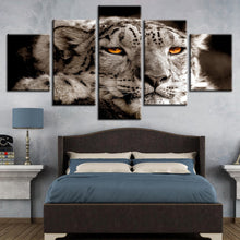 Lying Leopard Magical Eyes 5 Piece HD Multi Panel Canvas Wall Art Frame