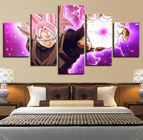 Anime Dragon Ball 5 Piece HD Multi Panel Canvas Wall Art Frame