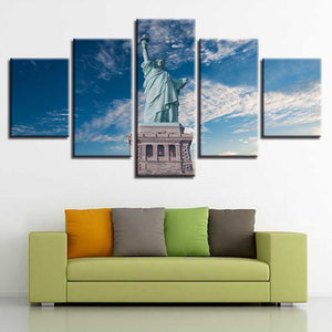 Statue of Liberty 5 Piece HD Multi Panel Canvas Wall Art Frame