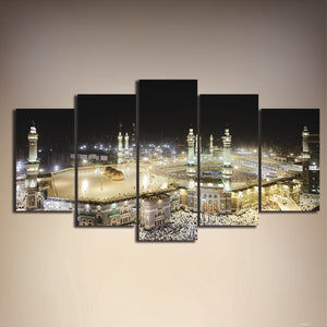 Islamic Mosque 5 Piece HD Multi Panel Canvas Wall Art Frame