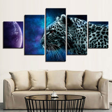 Animal Leopard Planet 5 Piece HD Multi Panel Canvas Wall Art Frame